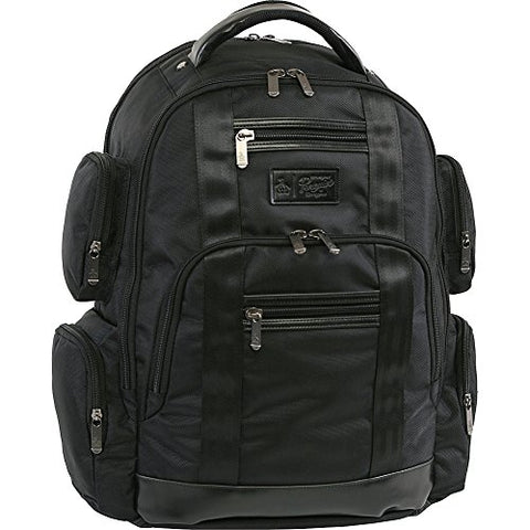 Original Penguin Peterson Fits Most 15-Inch Laptop And Notebook Backpack, Black, One Size