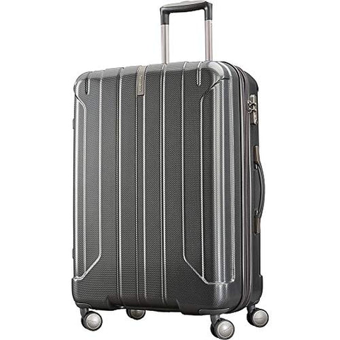 "Samsonite On Air 3 25"" Expandable Hardside Checked Spinner Luggage (Charcoal"