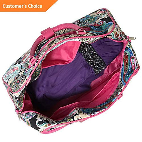 Sandover World Traveler Multi Paisley 21 Carry-On Duffel Bag - Rolling Duffel NEW | Model LGGG -