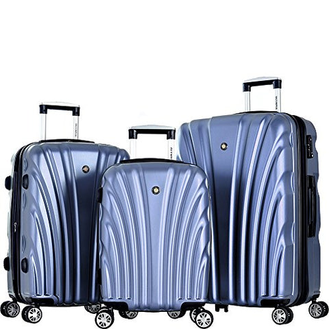 Olympia Usa Vortex Hardside Spinner Luggage Set (Icy Blue)
