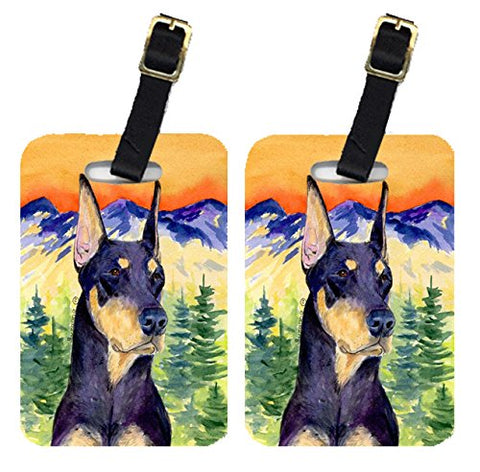 Carolines Treasures Ss8658Bt Doberman Luggage Tag - Pair 2, 4 X 2.75 In.