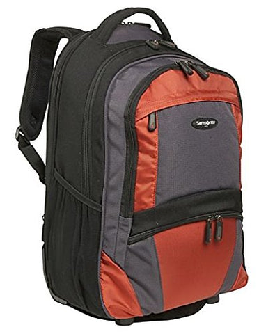 Samsonite Wheeled Laptop Backpack in Black-Orange