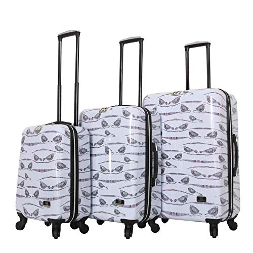 HALINA Valerie Aubergine 3 Piece Set Luggage, Multicolor
