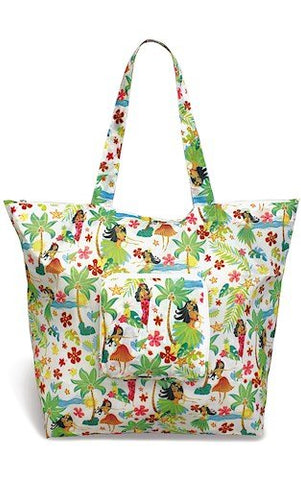 Hawaiian Deluxe Foldable Tote Island Hula Honeys