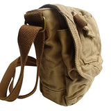 "Vagabond Traveler 8"" Tall Small Canvas Slim Sling Shoulder Bag C93.Gry"