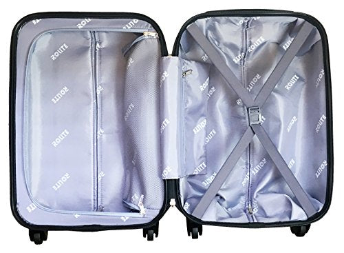 3pc Luggage Set Hardside Rolling 4wheel Spinner Carryon Travel Case Poly Stamp
