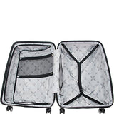"Aimee Kestenberg Women'S 28"" Embossed Star Abs 4-Wheel Upright Checked Luggage, Black"
