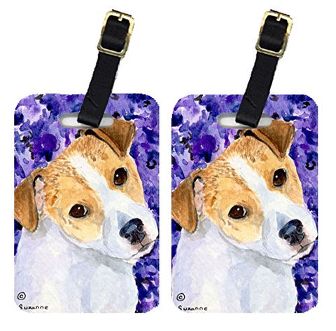 Carolines Treasures Ss8740Bt Jack Russell Terrier Luggage Tag - Pair 2, 4 X 2.75 In.
