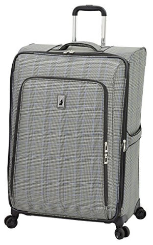"London Fog Knightsbridge II 29"" Expandable Spinner, Grey Sapphire Plaid"
