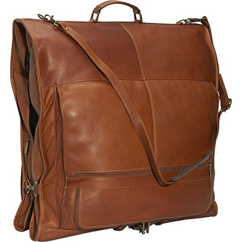 "David King Leather 52"" Deluxe Garment Bag In Tan"