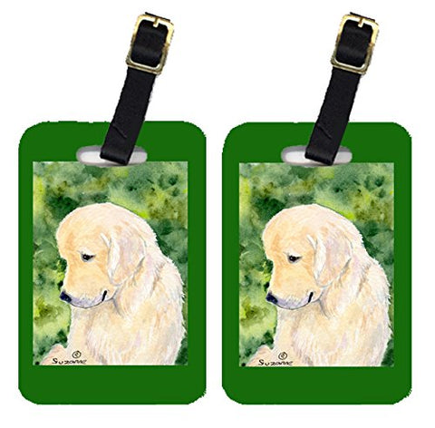 Carolines Treasures Ss8757Bt Golden Retriever Luggage Tag - Pair 2, 4 X 2.75 In.