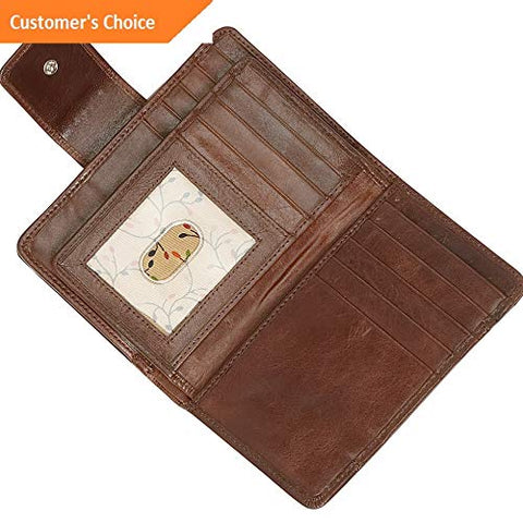 Sandover Mancini Leather Goods RFID Secure Medium Clutch Wallet Womens Wallet NEW | Model LGGG - 5759 |