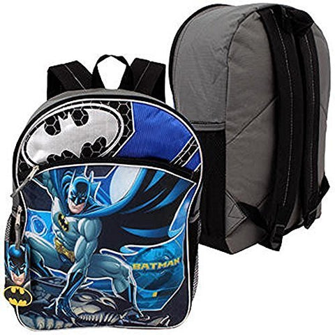 Dc Comics Wb Shield Batman Boys School Backpack 16'' Blue/Black …