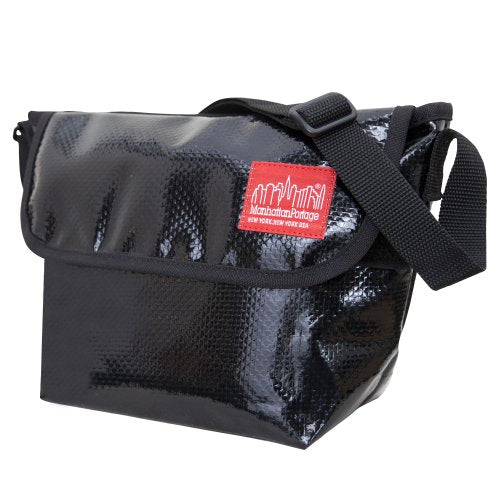 Manhattan Portage Vinyl NY Messenger Bag, Black