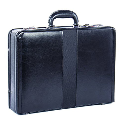 Bugatti Jeffrey Attache Case, Vegan Leather, Black