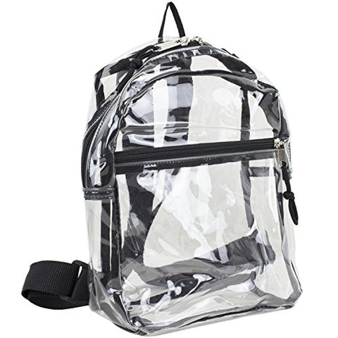 Eastsport 100% Transparent Clear MINI Backpack (10.5 by 8 by 3 Inches) with Adjustable Straps