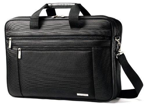"Samsonite 17"" Classic Slimbrief Notebook Case, Ballistic Nylon, 17-3/4 x 4-1/2 x 12, Black"