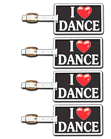 Tag Crazy I Heart Dance Four Pack, Black/White/Red, One Size