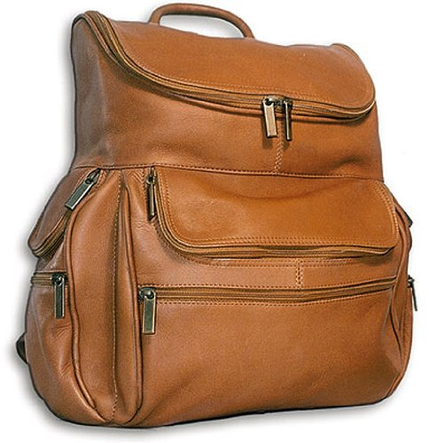 David King & Co. Computer Back Pack, Tan, One Size