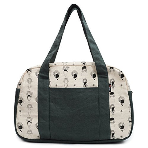 Women'S Girls And Cat Printed Canvas Duffel Travel Bags Was_19
