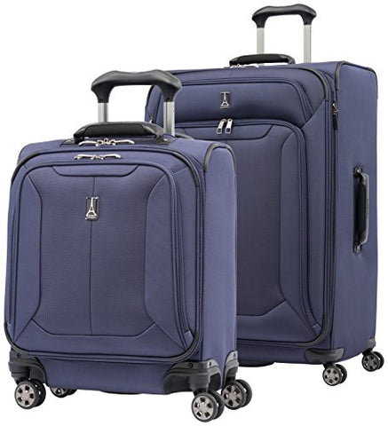 "Travelpro Skypro Lite 2-Piece Expandable 8-Wheel Luggage Spinner Set: 29"" and 17"" Compact Boarding Bag (Navy)"