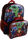 "Marvel Avengers 16"" School Backpack With Detachable Lunch Box"