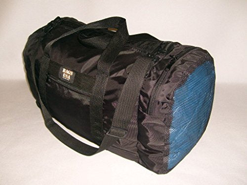 Duffle Bag Wet and Dry with 1 End Compartment Mesh,front Pocket,made in Usa (Black)
