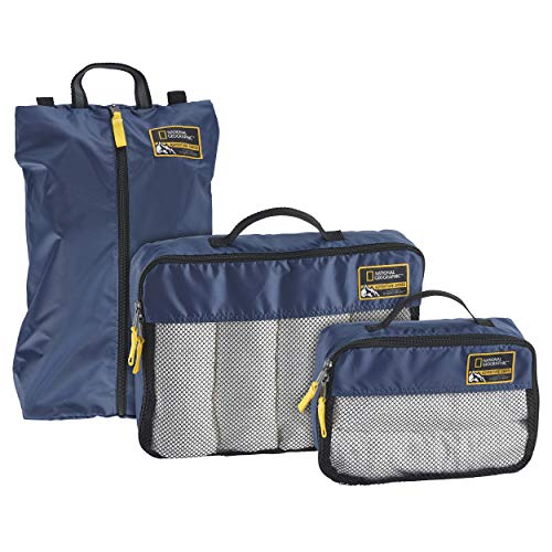 Eagle Creek National Geographic Adventure Essential Packing Set, Cosmic Blue