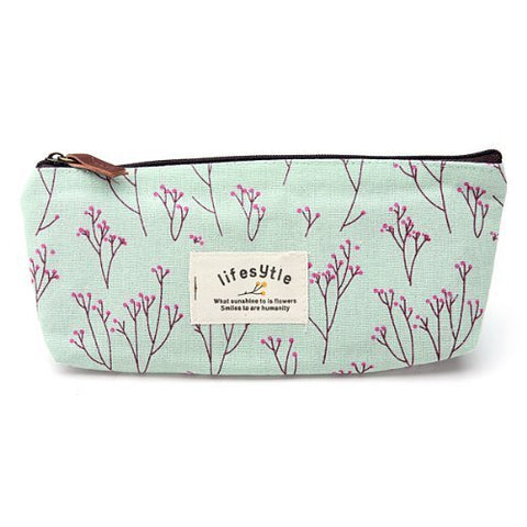 Toogoo(R) Countryside Flower Floral Pencil Pen Case Cosmetic Makeup Bag