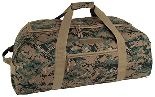 Code Alpha Tactical Gear Giant Duffle/Backpack, Marpat Woodland Digital Camouflage, 9931-DGC