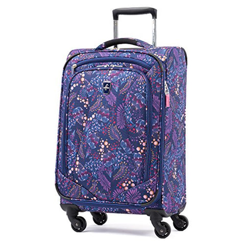 Atlantic Ultra Lite Softsides Carry-on Exp. Spinner, Lulu Navy