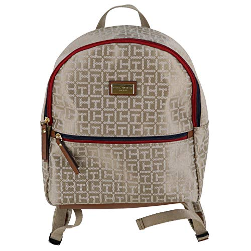 Tommy Hilfiger Womens Jacquard Backpack (Tan)