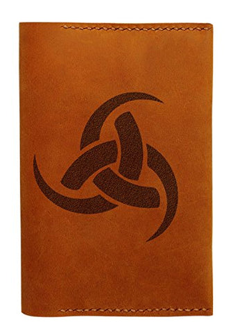 Odin Triple Horn Handmade Genuine Leather Passport Holder Case Hlt_01