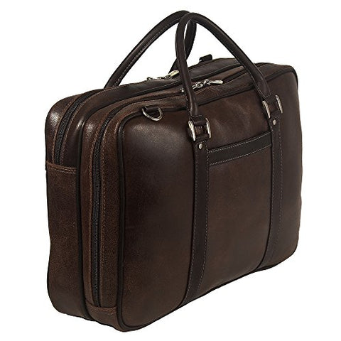 Piel Leather Vintage Laptop Brief, Vintage Brown, One Size