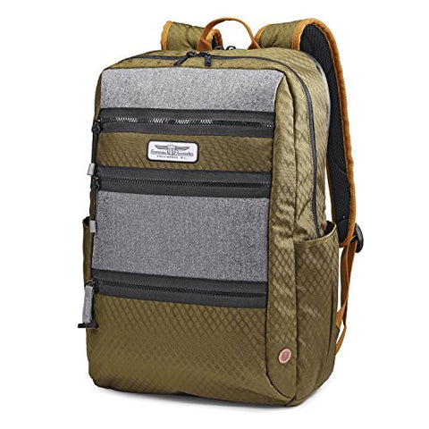 American Tourister Straightshooter Backpack, Olive/Black/Grey One Size