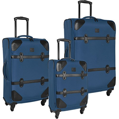 The Set Of Classic Faded Indigo Diane Von Furstenberg Julie 3 Piece Luggage Set