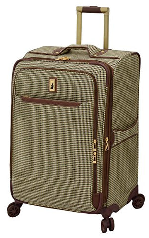 "London Fog Cambridge Ii 25"" Expandable Spinner, Olive Houndstooth"