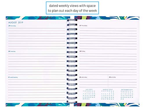 photograph regarding Large Daily Planner identified as Vera Bradley Heavy 17 Thirty day period Day-to-day Planner, August 2019 - December 2020, 8.75 x 7.25 with Stickers and Every day, Weekly, Regular Opinions, Moonlight Backyard