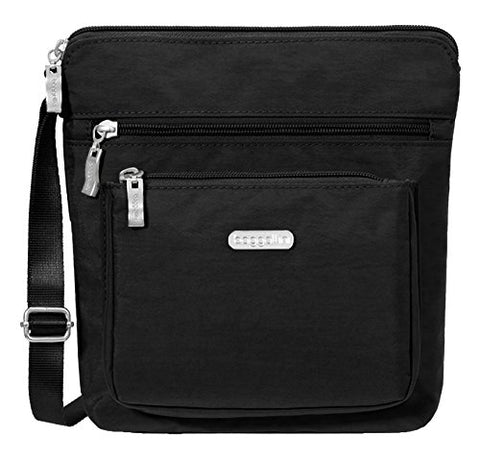 Baggallini Pocket Lightweight Crossbody Bag–Spacious, Water-Resistant Travel Purse With Rfid