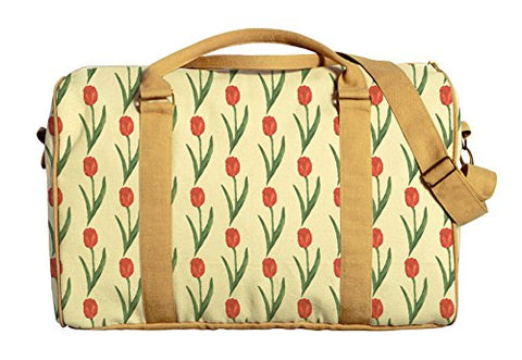 Tulip Pattern Printed Canvas Duffle Luggage Travel Bag Was_42