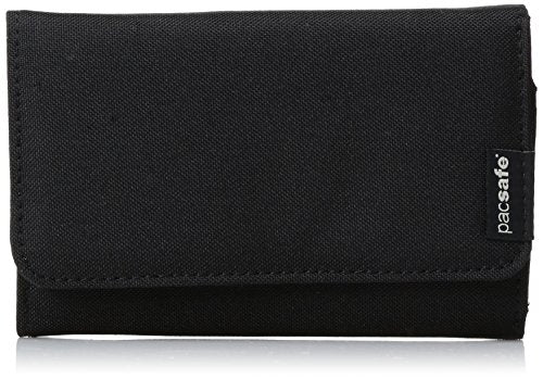 Pacsafe RFIDsafe LX100 Anti-Theft RFID Blocking Wallet, Black