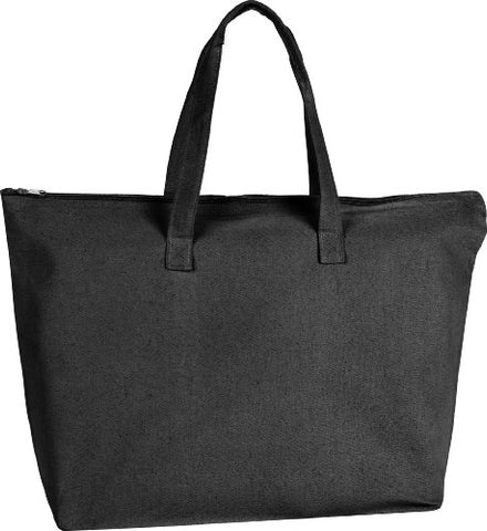 ZUZIFY Zippered Tote Bag. VP0042 OS Black