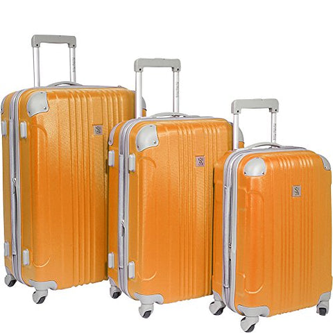 Beverly Hills Country Club Newport 3-Piece Hardside Spinner Luggage Set - Orange ( 21-Inch , 24-Inch and 28-Inch )