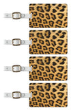 Tag Crazy Leopard Premium Luggage Tags Set Of Four, Gold, One Size