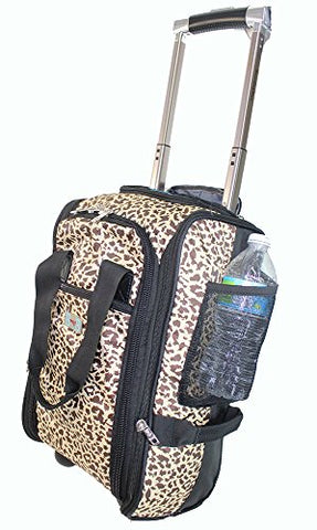 Boardingblue New United Airlines Rolling Free Personal Item Under Seat (Leopard)