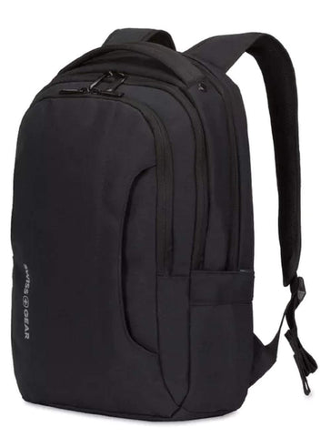 SWISSGEAR 3573 LAPTOP BACKPACK for School, Work, and Travel- BLACK/WHITE LOGO