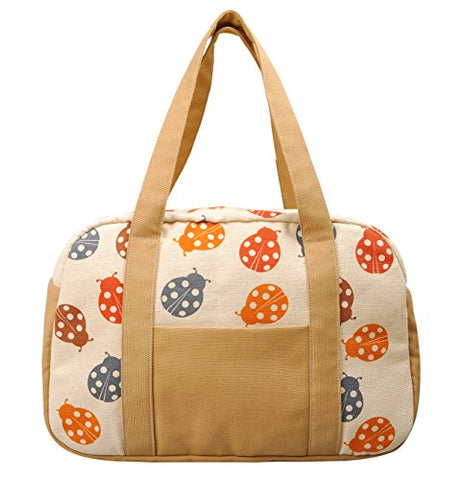 Women'S Ladybugs Printed Canvas Duffel Travel Bags Was_19
