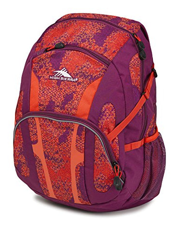 High Sierra Composite Backpack, Moroccan Tile/Berry Blast/Redline