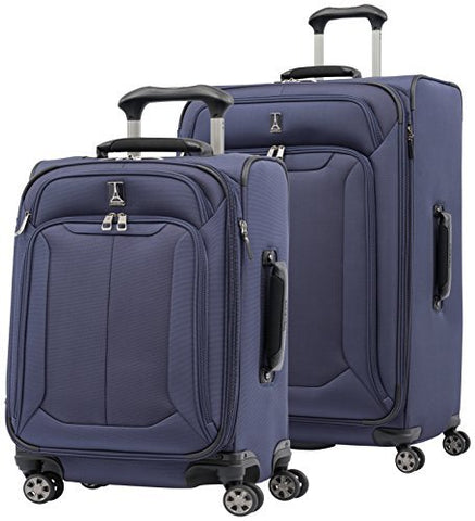 "Travelpro Skypro Lite 2-Piece Expandable 8-Wheel Luggage Spinner Set: 29"" and 21"" (Navy)"