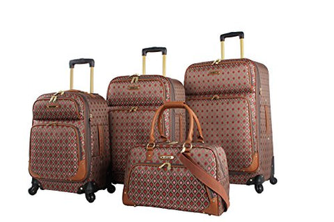 Rosetti Lighten Up Luggage Set 4 Piece Expandable Softside Suitcase With Spinner Wheels (Lighten Up